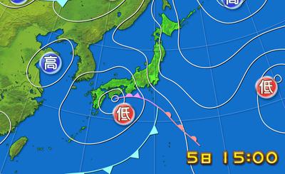 6月5日天気図